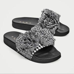 Zara New gingham slides size 7.5 $39